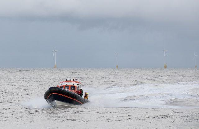 A view of a lifeboat at Caister in Norfolk