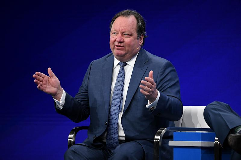 BEVERLY HILLS, CA - APRIL 29: Robert Bakish, President and CEO, Viacom Inc., participates in a panel discussion during the annual Milken Institute Global Conference at The Beverly Hilton Hotel on April 29, 2019 in Beverly Hills, California. (Photo by Michael Kovac/Getty Images)