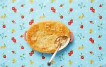 """<p>Few things are more comforting than a flaky pot pie. Especially on a cold winter night with the fire roaring and an <a href=""""https://www.thepioneerwoman.com/news-entertainment/g32068235/best-80s-movies/"""" rel=""""nofollow noopener"""" target=""""_blank"""" data-ylk=""""slk:'80s movie"""" class=""""link rapid-noclick-resp"""">'80s movie</a> playing in the background.<br> </p><p><a class=""""link rapid-noclick-resp"""" href=""""https://www.thepioneerwoman.com/food-cooking/recipes/a11686/pot-pie/"""" rel=""""nofollow noopener"""" target=""""_blank"""" data-ylk=""""slk:Get the Recipe!"""">Get the Recipe!</a></p>"""