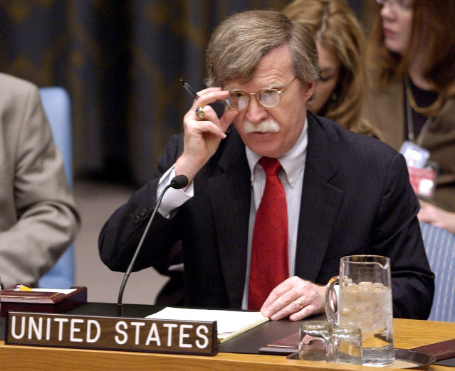 U.S. Ambassador to the United Nations John Bolton speaks during a meeting of the U.N. Security Council about the situation in Iraq, at the U.N. headquarters in New York on March 15, 2006. (Photo: Chip East/Reuters)