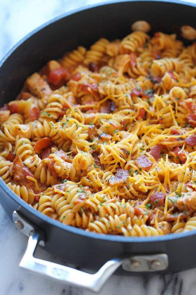 "<strong>자세한 레시피는 <a href=""http://damndelicious.net/2014/06/27/one-pot-bbq-chicken-pasta/"" target=""_blank"">여기를 클릭!</a> from Damn Delicious</strong>"