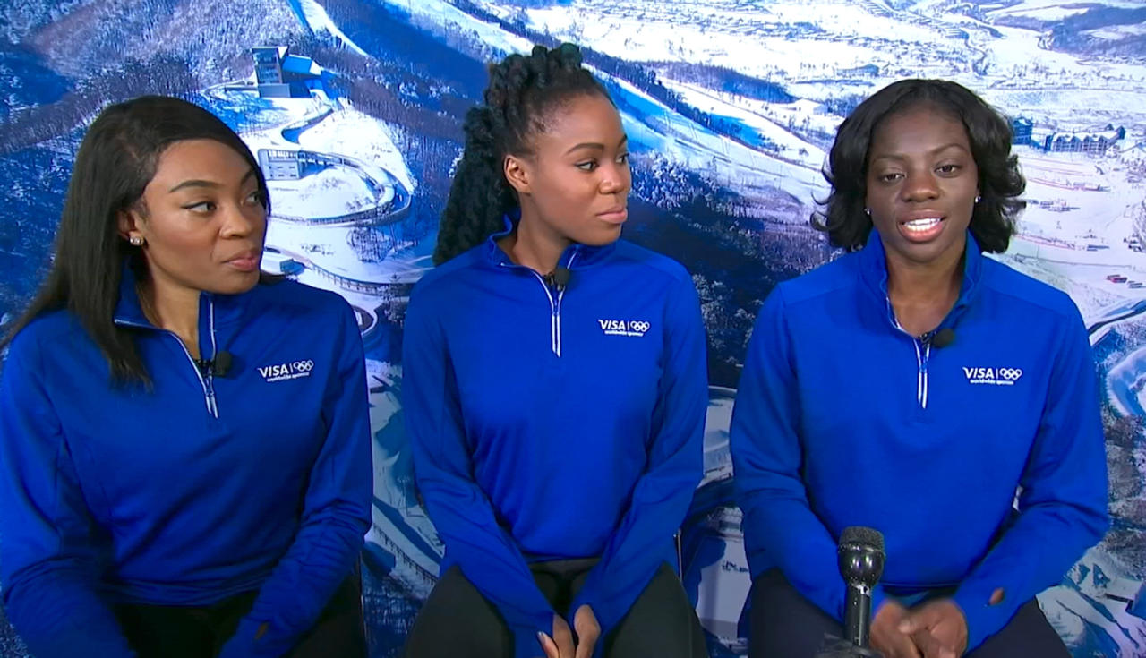 <p>Seun Adigun, Ngozi Onwumere and Akuoma Omeoga switched from the track to the ice and made history on their way. They're the first ever African bobsled team to qualify for the Olympics as well as the first Nigerian athletes to compete at a Winter Olympics. </p>