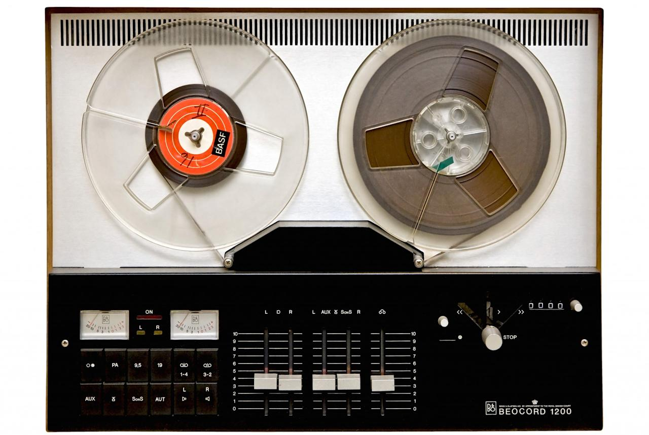 <p>This infuriatingly fiddly magnetic tap-based audio format had its origins in the 1920s and was popular in mid-century homes before being overtaken by the cassette tape. Following the resurgence of vinyl, reel-to-reel is also said to be making a comeback. (NielsDK / imageBROKER/REX/Shutterstock) </p>