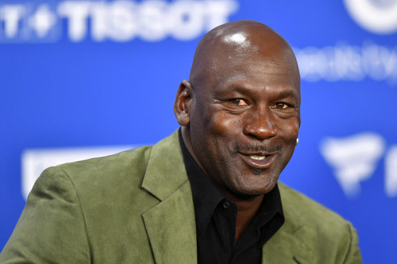 Michael Jordan donated an indeterminate amount to part-time Hornets employees. (Aurelien Meunier/Getty Images)