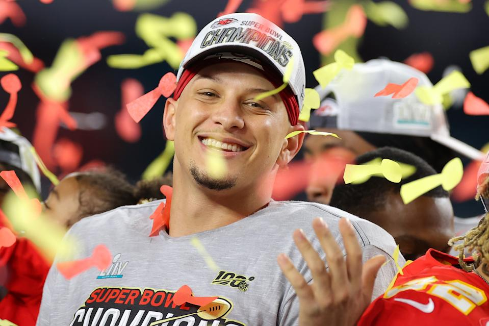 You might want to get used to seeing Patrick Mahomes and the Kansas City Chiefs on the podium after the Super Bowl. (Photo by Kevin C. Cox/Getty Images)