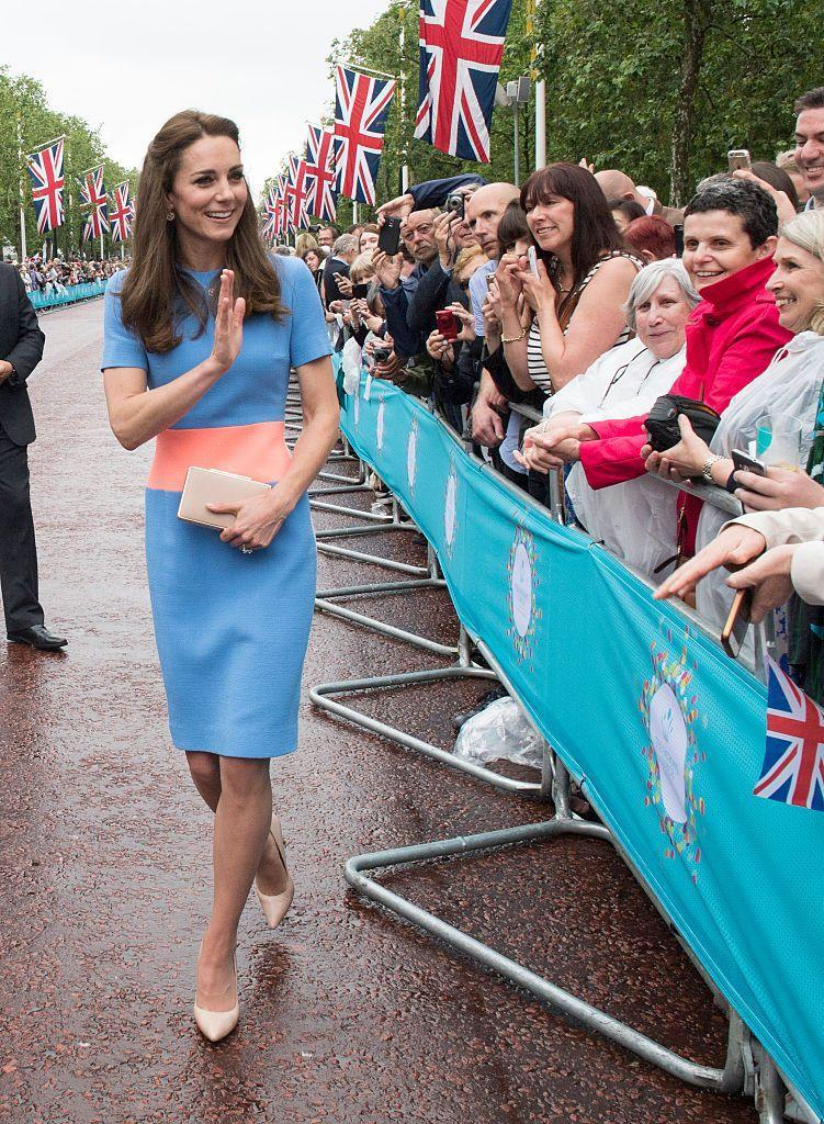"<p>The Duchess wore a new dress by <a href=""http://www.roksanda.com/"" rel=""nofollow noopener"" target=""_blank"" data-ylk=""slk:Roksanda Ilincic"" class=""link rapid-noclick-resp"">Roksanda Ilincic</a> on her way to the Patron's lunch.</p>"