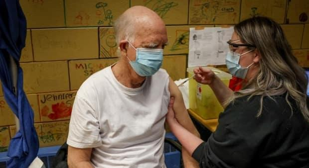 Barry McCaughey, 76, told AHS he has spent most of the past year hibernating. 'I very seldom go out.' He received his first dose of the COVID-19 vaccine Wednesday and looks forward to camping one day soon.