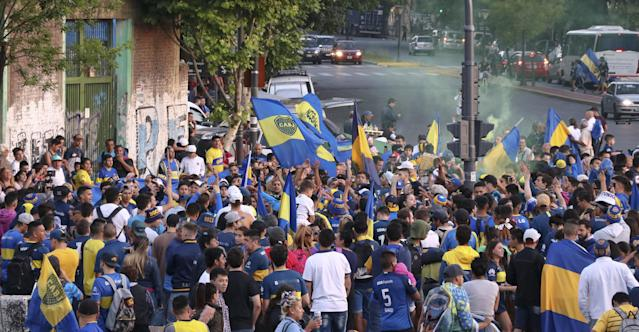 Aficionados de Boca Juniors. (Getty Images)