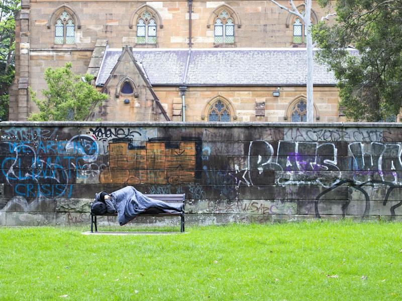 Perth is piloting moving homeless people into hotels amid the coronavirus crisis: Jenny Evans/Getty Images