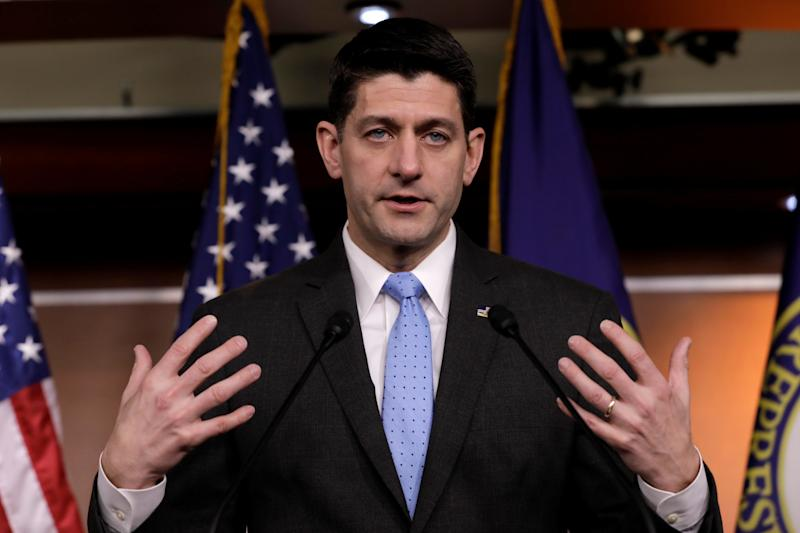 It's a mystery why House Speaker Paul Ryan (R-Wis.) fired the House chaplain.  (Yuri Gripas / Reuters)