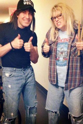 "<p>Why not dress as the the most excellent BFFs in honor of <em>Wayne's World</em>'s 25th anniversary? There's a good chance you already have most of the costume elements - you might even have respective long brown and long blonde hair - so it's an especially easy costume to pull together last-minute.</p><p><strong>What you'll need: </strong>Wayne's World hat ($14, <a rel=""nofollow"" href=""https://www.amazon.com/Waynes-World-Movie-Embroidered-Costume/dp/B00ENLQ2YU/ref=sr_1_4?tag=syndication-20"">amazon.com</a>), Aerosmith t-shirt ($20, <a rel=""nofollow"" href=""https://www.amazon.com/Aerosmith-Force-White-Sleeve-Medium/dp/B00YQ4SE6S/ref=sr_1_4?tag=syndication-20"">amazon.com</a>)</p>"