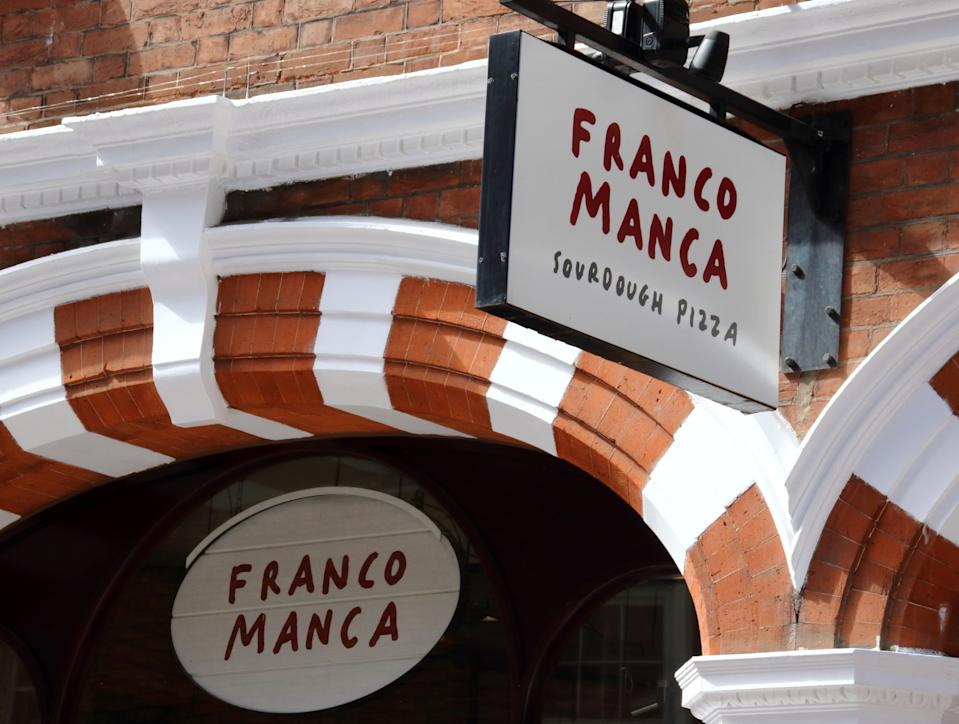 LONDON, UNITED KINGDOM - 2020/08/22: Franco Manca, a sourdough Neapolitan pizza business restaurant seen in Central London. (Photo by Keith Mayhew/SOPA Images/LightRocket via Getty Images)