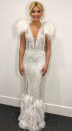 <p>For the Dancing on Ice final, Holly Willoughby stunned viewers in a couture gown by Nedretta Ciroglu. She accessorised the angelic look with co-ordinating jewels by Anoushka Jewellery and Prada heels. <em>[Photo: Instagram]</em> </p>
