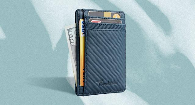 With over 4,100 near-perfect reviews, the Travelambo Slim Wallet the best-selling men's wallet on Amazon and it can be yours for as low as $6. (Photo: Amazon)