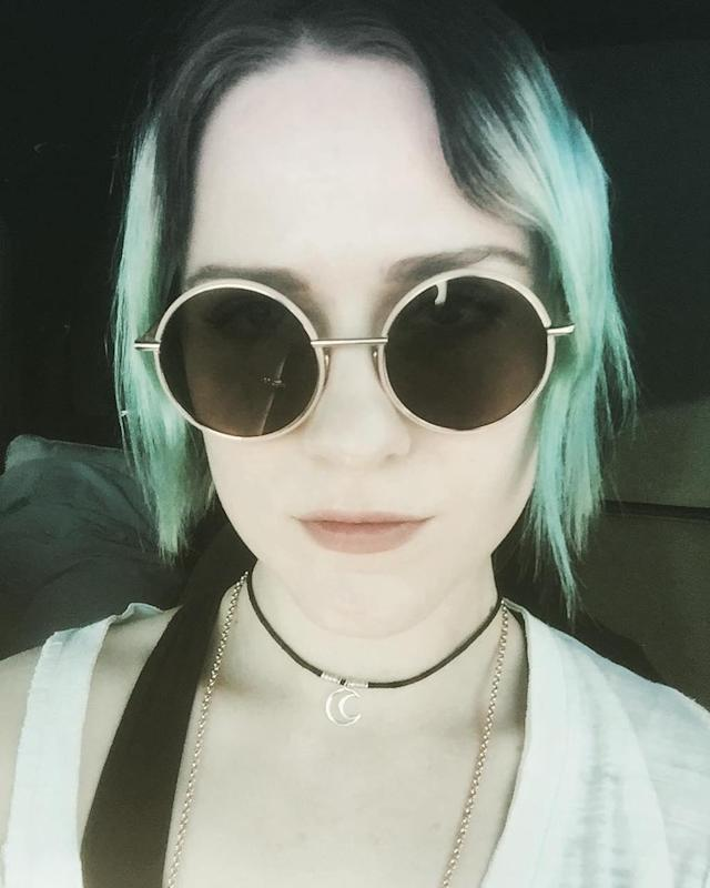 "<p>No robot here. Just the <em>Westworld</em> star sporting some colorful hair and amazing shades. ""Goodnight #DesertChildren,"" she captioned this selfie. (Photo: <a href=""https://www.instagram.com/p/BUqmfa2FosO/?taken-by=evanrachelwood"" rel=""nofollow noopener"" target=""_blank"" data-ylk=""slk:Evan Rachel Wood via Instagram"" class=""link rapid-noclick-resp"">Evan Rachel Wood via Instagram</a>)<br><br></p>"