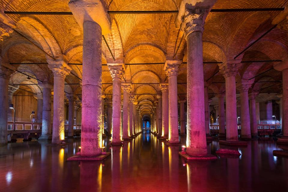 <p>The largest of hundreds of ancient cisterns that lie under Istanbul. </p>