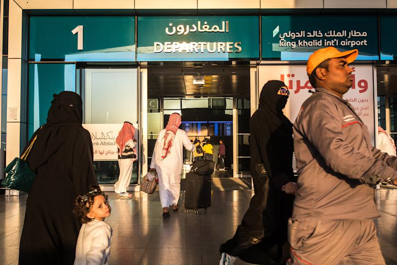 Women in Saudi Arabia were allowed to travel without male guardians for the first time last year. (Iman Al-Dabbagh/The New York Times)