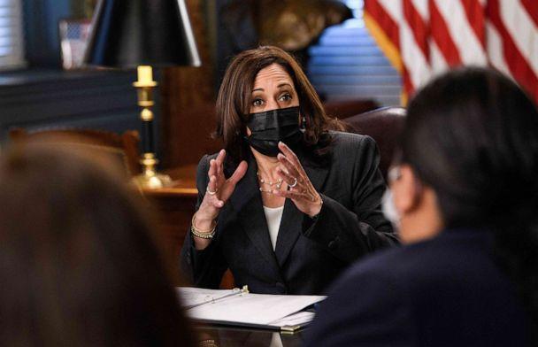Vice President Kamala Harris hosts a discussion with Native American community leaders about voting rights on July 27, 2021. (Nicholas Kamm/AFP via Getty Images)
