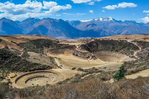 Circular terraces in Moray in the Sacred Valley - Credit: Getty