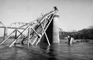 The Herald-Dispatch Archive-APWreckage from the Silver Bridge collapse at Point Pleasant, W.Va.