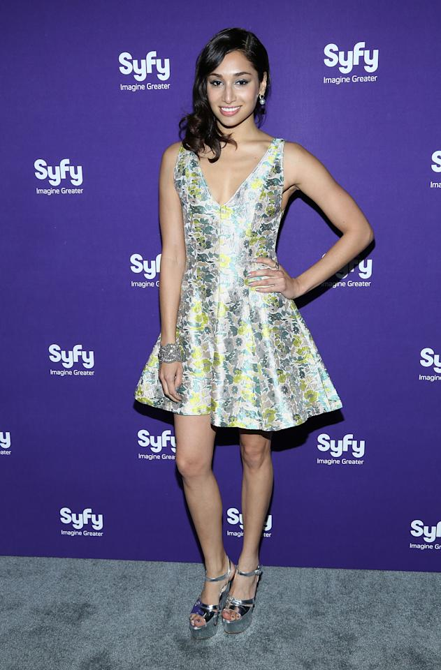 "NEW YORK, NY - APRIL 10:  Meaghan Rath of ""Being Human"" attends Syfy 2013 Upfront at Silver Screen Studios at Chelsea Piers on April 10, 2013 in New York City.  (Photo by Rob Kim/Getty Images)"