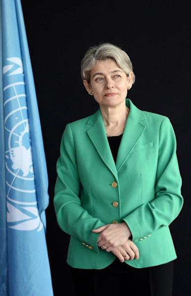 Three main candidates had vied to succeed UNESCO's head Irina Bokova of Bulgaria