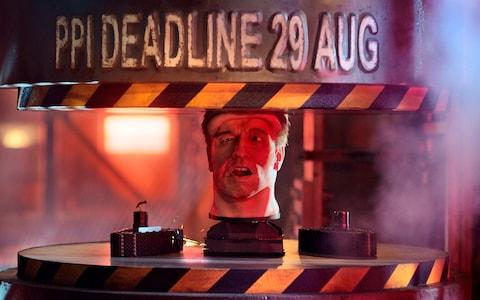 <span>The Financial Conduct Authority has used an animatronic Arnold Schwarzenegger head in adverts to remind people they have just one month left to complain about PPI</span> <span>Credit: FCA/PA </span>