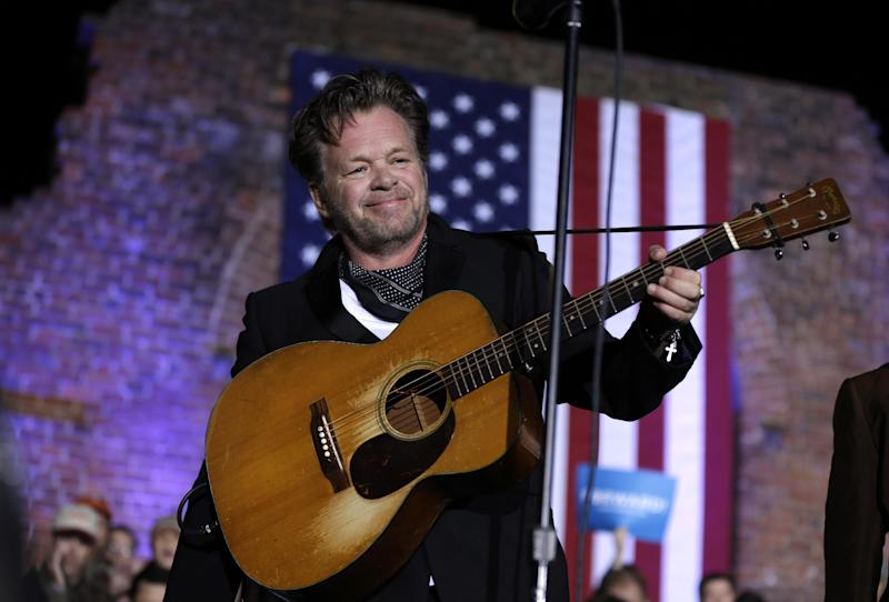FILE - This Nov. 5, 2012 file photo shows John Mellencamp performing during a campaign rally at the American Civil War Center at the Historic Tredegar Ironworks, in Richmond, Va. More and more singer-songwriters from the rock and pop world are turning to the stage. Mellencamp, Sarah McLachlan, Tori Amos, Edie Brickell, David Byrne, Fatboy Slim, Burt Bacharach, Elvis Costello and The Flaming Lips are making musicals. (AP Photo/Matt Rourke, file)