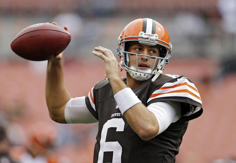 Agent for Browns' Hoyer confident contract coming