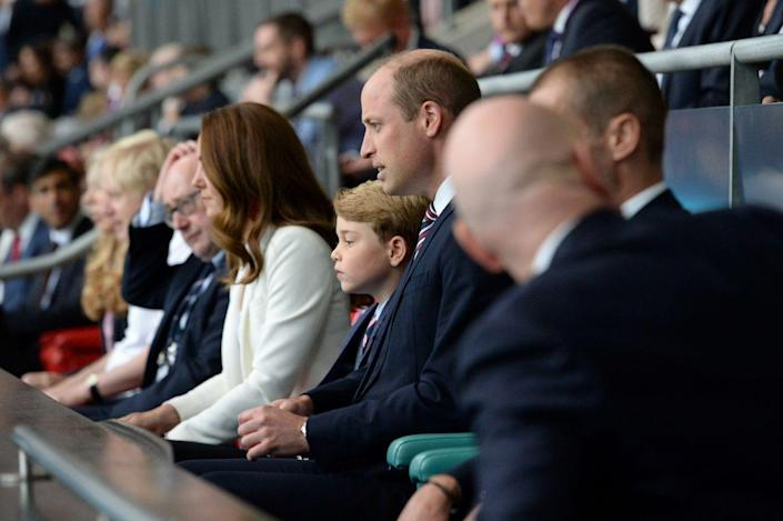 <p>Prince George's face represented the country's sadness as England went from a 1-0 lead to losing to Italy in the European Championship Final. </p>