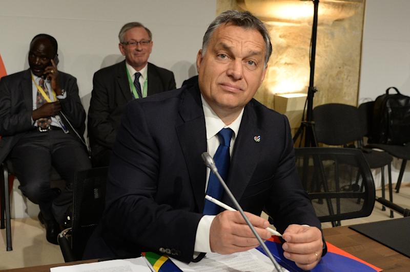 Hungary's Prime minister Viktor Orban waits for the start of the second working session of the European Union - Africa Summit on Migration at the Meditterranean Conference Center, on November 12, 2015 in La Valletta (AFP Photo/Filippo Monteforte)