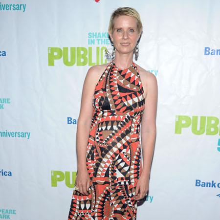 Cynthia Nixon wanted statement wedding dress