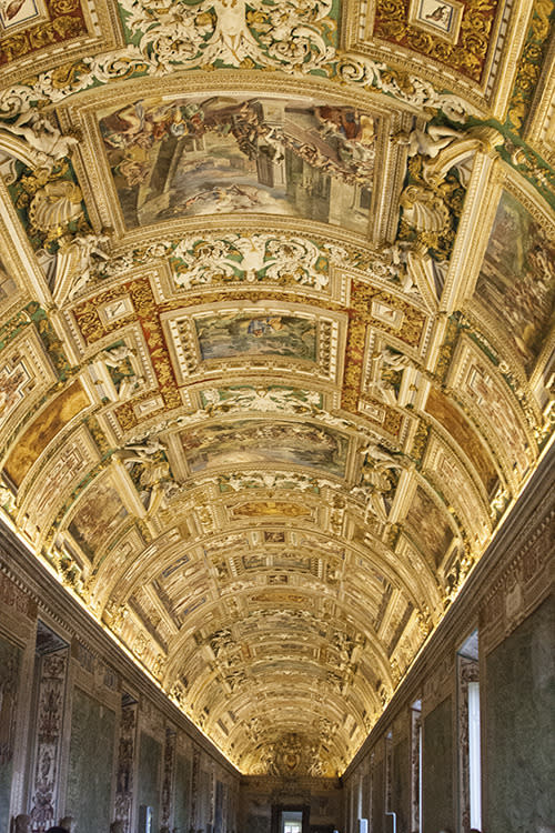 <p>Flash photography is banned as it damages and ages the prices frescos housed in the Sistine Chapel.</p>