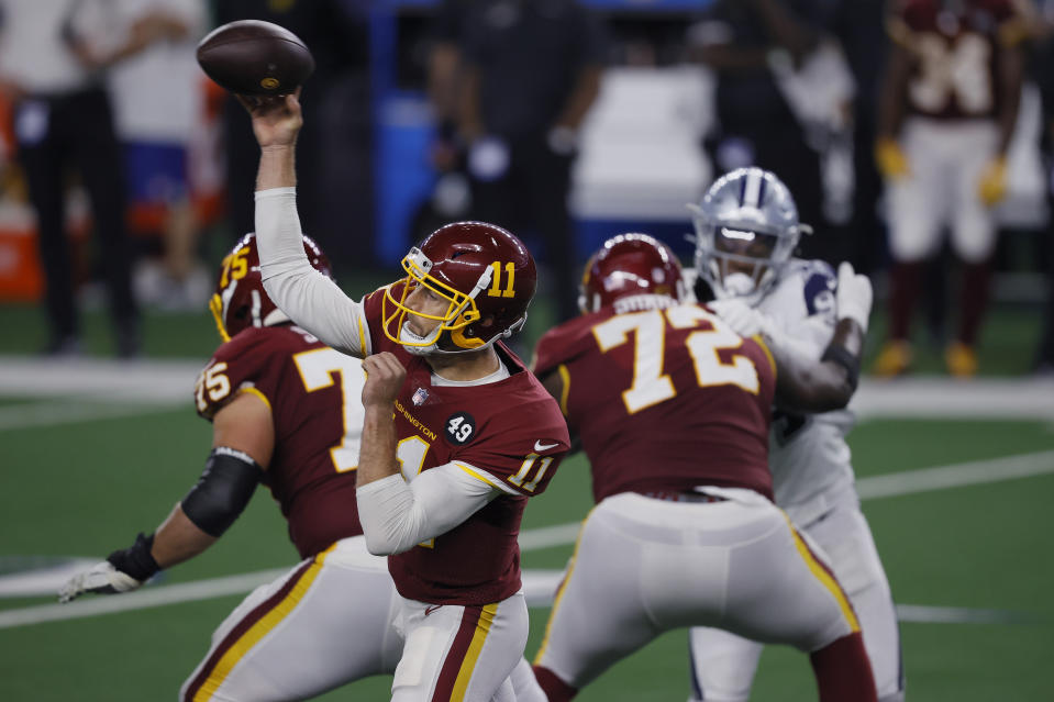 Alex Smith and the WFT drew big numbers as well as a win. (Tom Pennington/Getty Images)