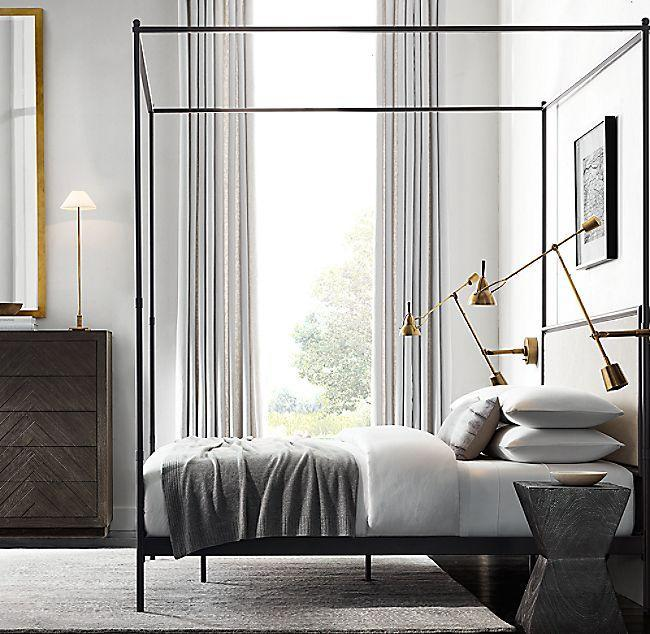 "<p><a class=""link rapid-noclick-resp"" href=""https://www.restorationhardware.com/catalog/product/product.jsp?productId=prod2701336"" rel=""nofollow noopener"" target=""_blank"" data-ylk=""slk:BUY NOW"">BUY NOW</a></p><p><strong>French Iron Canopy Fabric Bed, </strong><em><strong>$1,871 - $2,471 for a queen</strong></em></p><p><a href=""https://www.restorationhardware.com/"" rel=""nofollow noopener"" target=""_blank"" data-ylk=""slk:RH"" class=""link rapid-noclick-resp"">RH</a> is known for its huge catalog full of luxe, architectural furniture, decor, hardware, and more. And, if you become an RH member for $100 each year, you'll have access to member pricing, which means a 25 percent discount on everything, alongside some other cool perks. </p>"