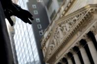 FILE PHOTO: New York Stock Exchange (NYSE) building after the start of Thursday's trading session in New York