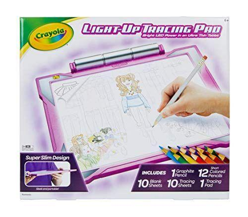 "<p><strong>Crayola</strong></p><p>amazon.com</p><p><strong>$24.99</strong></p><p><a href=""https://www.amazon.com/dp/B0084JUNVU?tag=syn-yahoo-20&ascsubtag=%5Bartid%7C10055.g.203%5Bsrc%7Cyahoo-us"" rel=""nofollow noopener"" target=""_blank"" data-ylk=""slk:Shop Now"" class=""link rapid-noclick-resp"">Shop Now</a></p><p>Got a kid who loves tracing? Give them this awesome light-up tracing pad by Crayola. The kit comes with over 100 traceable images, and the backlight makes tracings easy to see no matter the setting.</p>"