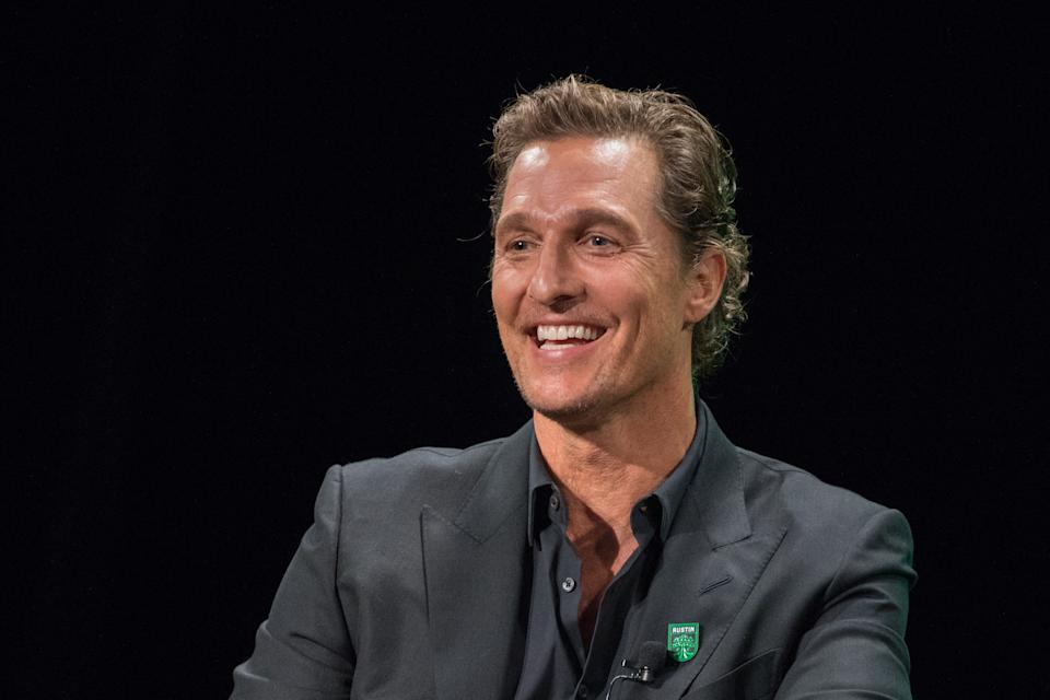 AUSTIN, TEXAS - AUGUST 23: Matthew McConaughey, Academy Award-winning actor attends the Austin FC Major League Soccer club announcement of four new investors including himself as the 'Minister of Culture' at 3TEN ACL Live on August 23, 2019 in Austin, Texas. (Photo by Rick Kern/Getty Images)