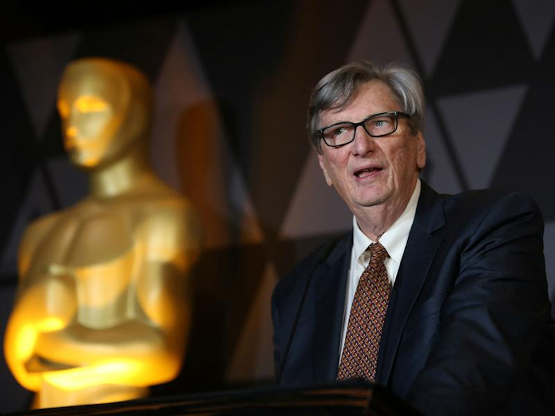 John Bailey speaks at the Foreign Language Film nominees cocktail reception in Beverly Hills, California: REUTERS/David McNew