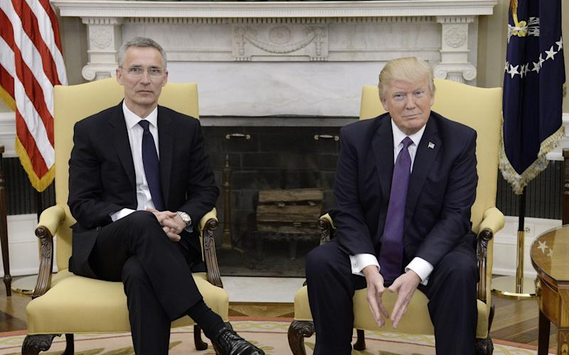 NATO Secretary General Jens Stoltenberg Meets With President Trump At The White House - Credit:  Olivier Douliery/Bloomberg