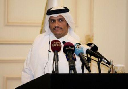 Qatar's foreign minister Sheikh Mohammed bin Abdulrahman al-Thani attends a joint news conference with Italian foreign minister Angelino Alfano in Doha, Qatar, August 2, 2017. REUTERS/Naseem Zeitoon