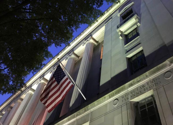Justice Department headquarters in Washington. (Photo: Ryan J Reilly)