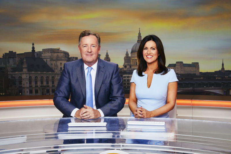Good Morning Britain presenters Piers Morgan and Susanna Reid. (ITV/Nicky Johnson)