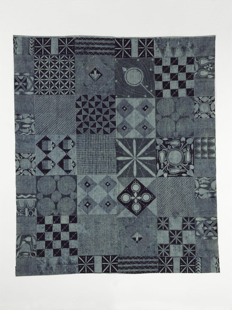 Starch resist indigo-dyed cotton cloth, Nigeria, 1960-1964 (Victoria and Albert Museum, London/PA)
