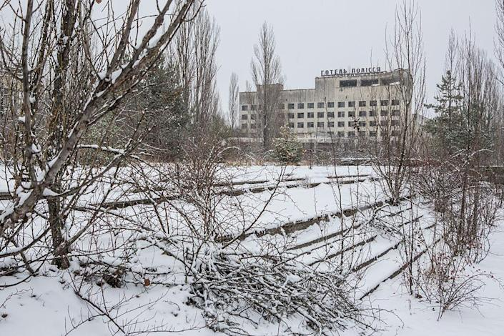 <p>A former hotel begins to crumble (Getty Images) </p>