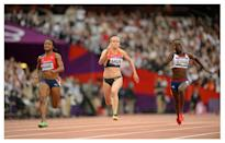 """<p>For women, midriff tops and short shorts or smaller bottoms are the look for most runners. In 2012, Nike unveiled its <a href=""""http://news.nike.com/news/track-field-nike-pro-turbospeed-uniforms-and-nike-zoom-spikes#/inline/7844"""" rel=""""nofollow noopener"""" target=""""_blank"""" data-ylk=""""slk:Pro Turbospeed"""" class=""""link rapid-noclick-resp"""">Pro Turbospeed</a> high-performance bodysuit, which has dimples that are supposed to make runners more aerodynamic. The skimpier uniforms are more popular still, though some runners wear arm cuffs, longer tops, or bodysuits for more covering. </p><p><i>(Photo: Getty Images)</i><br></p>"""