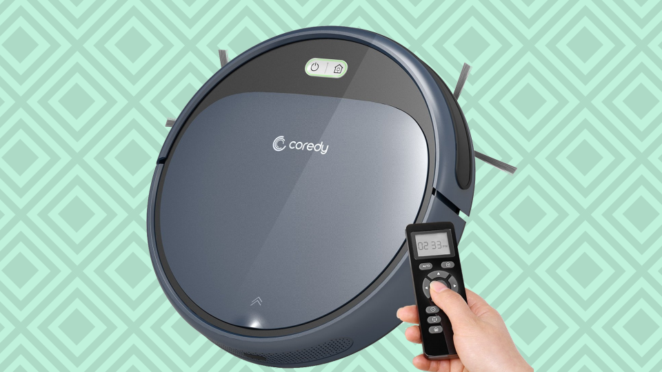 The Coredy robot vacuum cleaner can even navigate the worst messes. (Photo: Amazon)