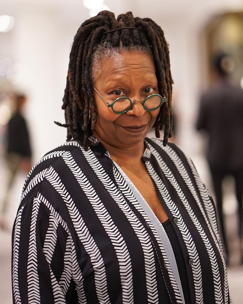 Whoopi Goldberg attends the VIP cocktail event at Neiman Marcus for its grand opening at Hudson Yards.