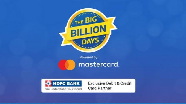 For the Big Billion Days, Flipkart has partnered with HDFC bank to offer exclusive debit and credit card discounts.
