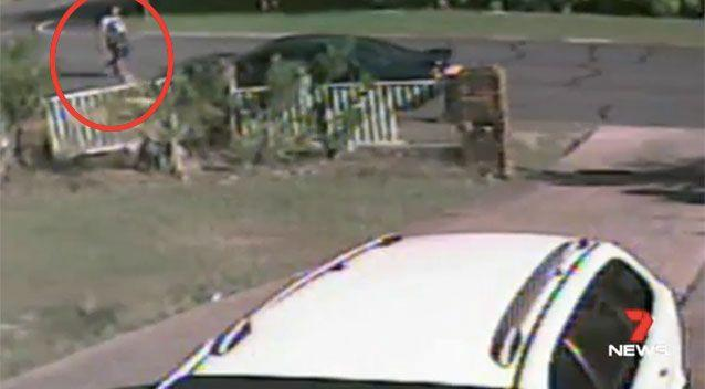 CCTV captured Patea walking calmly from the scene. Picture: 7 News